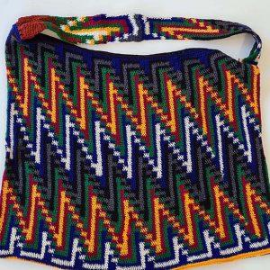 Synthetic yarn post office key pattern